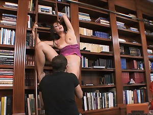 Library wild cock riding connected with impenetrable MILF Penny Paramour