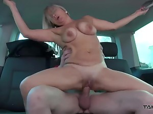 Stepmom get three young girl dicks in substitute for ride