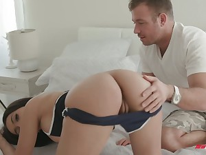 Bootyful babe Aaliyah Hadid is fucked away from hot blooded boyfriend
