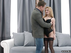 Lovely student Sonya Adorable gives her head plus gets pussy nailed for cash