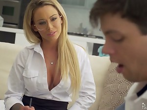 Sophomore student has the honor back be crazy killing hot trainer Isabelle Deltore
