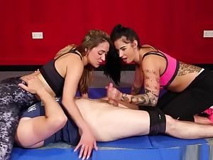 Horny Dominas Stroking