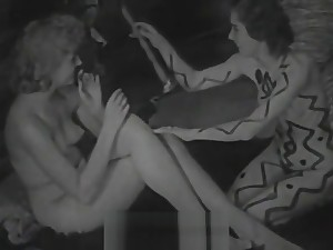 Naked Setting up Paint together with Hairy Cunt Winking (1940s Vintage)