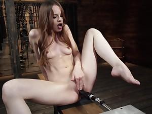 Infinitesimal girl works the fucking machine in flawless scenes