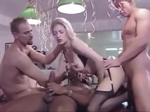 Lovely German stocking comme ci has orgy for her 18th birthday