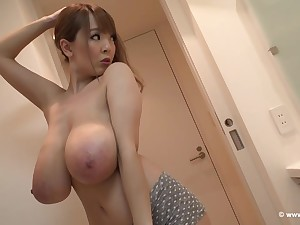 Curvaceous Japanese lass in the matter of massive milk jugs is getting ready to have fun in the matter of her lover