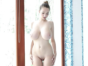 Treat bouncy tits connected with action