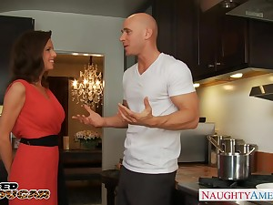 Attractive housewife is more than get-at-able beside beside a blowjob before fucking